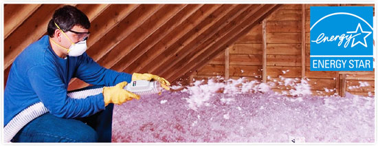 Energy Efficient Blown In Attic Insulation Installation