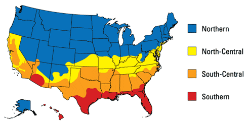 Energy Star Rating - Climate Zone Map - Windows